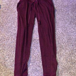 maroon sweatpants